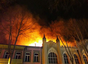 Tbilisidə güclü yanğın baş verib