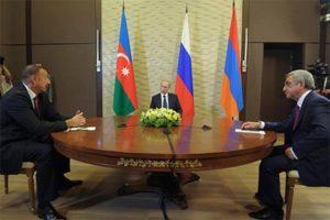 Aliyev Putin and Sarkisyan