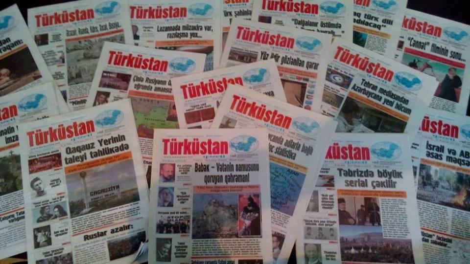 """Əflatun Amaşov """"Türküstan"""" qəzetini 10 yaşı münasibətilə təbrik edib"""
