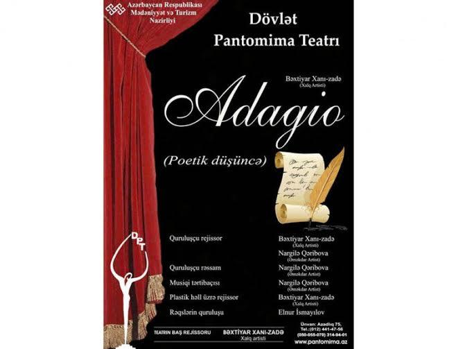 """Pantomima Teatrı mövsümü """"Adajio"""" tamaşası ilə açacaq"""