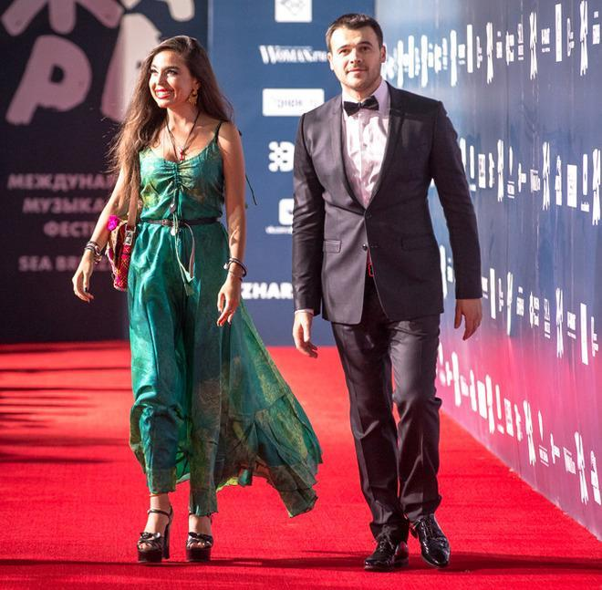Leyla Əliyeva və Emin qırmızı xalçada