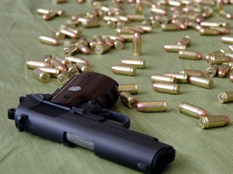 Küçədən silah-sursat aşkarlandı