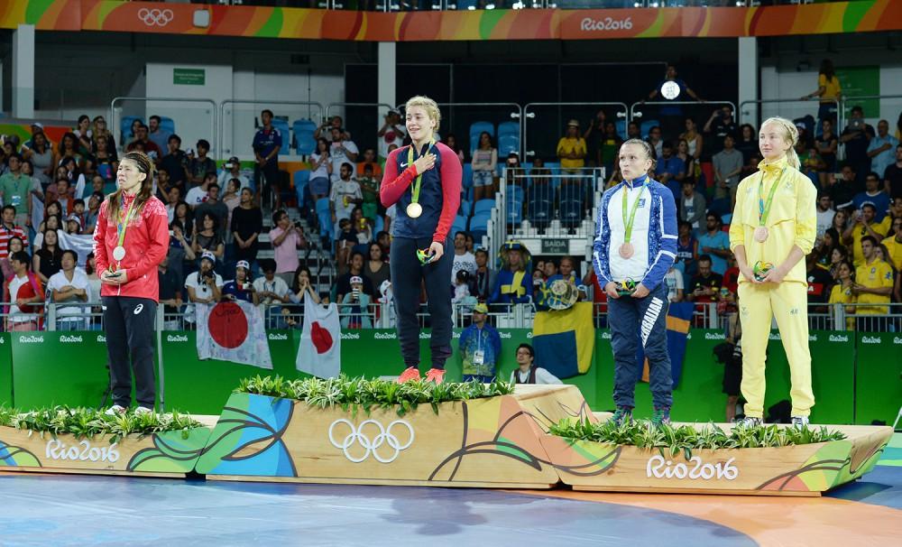 Güləşçimiz Nataliya Sinişin Olimpiya Oyunlarının bürünc medalına sahib olub