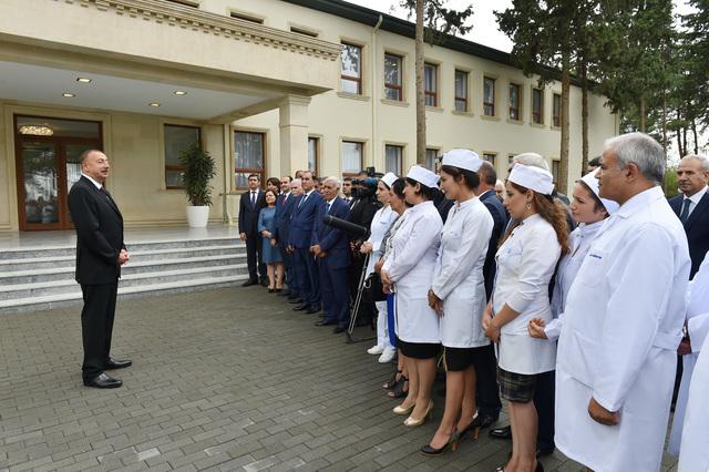 Prezident Biləsuvarda bir sıra açılışlar etdi