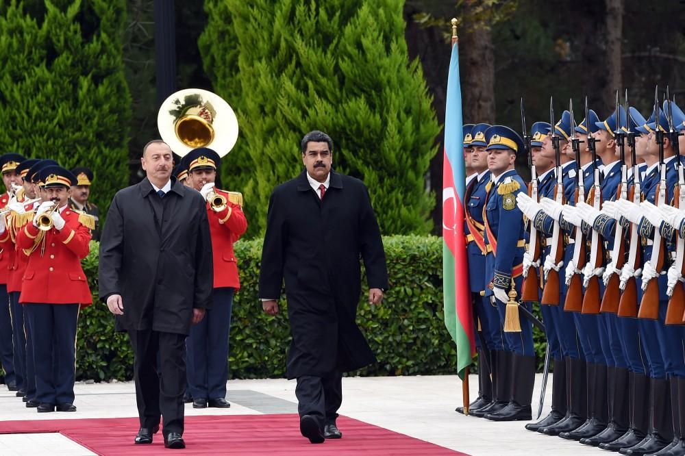 Əliyevlə Maduro görüşdü