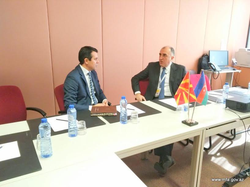 Məmmədyarov Makedoniyalı həmkarı ilə görüşdü