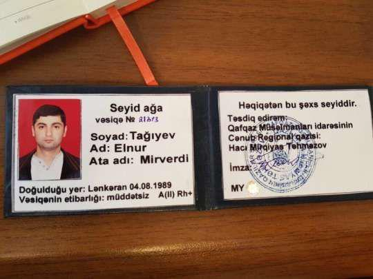 Seyidlik vəsiqəsi alan şəxs jurnalisti təhqir etdi-