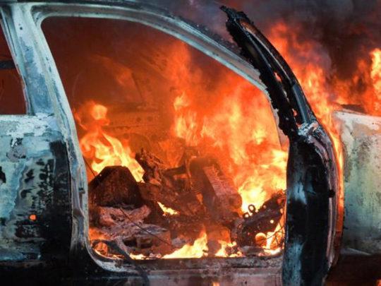 Abşeronda yük avtomobili yanıb