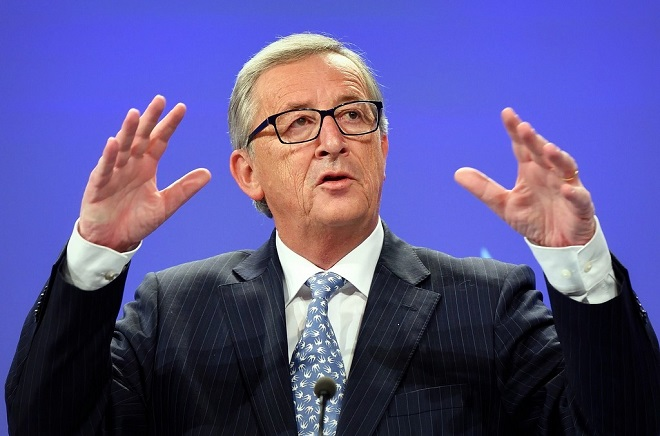 "Jean-Claude Juncker, President of the EC, at the midday briefing ""readout from the first college meeting"""