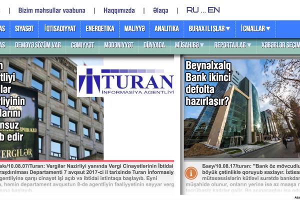 """""""Turan"""" agentliyinə qarşı təyin edilmiş vergi sanksiyası"""
