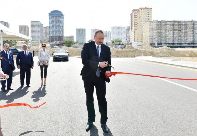 Prezident İlham Əliyev AÇILIŞLARDA - FOTO