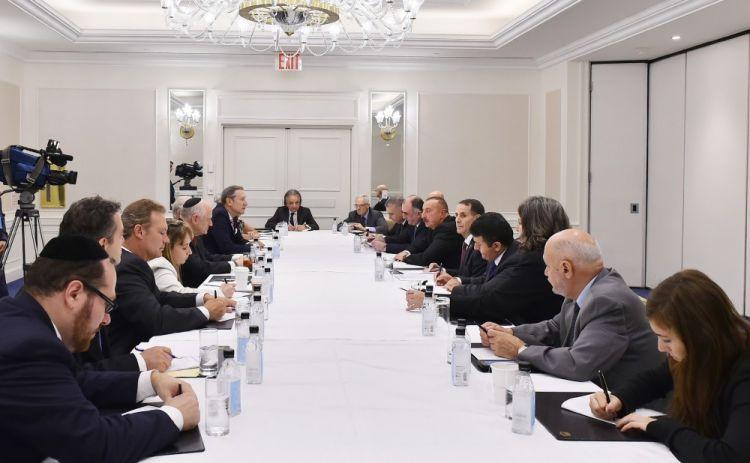 Azərbaycan prezidenti Nyu-Yorkda Amerika yəhudi təşkilatlarının nümayəndələri ilə görüşüb