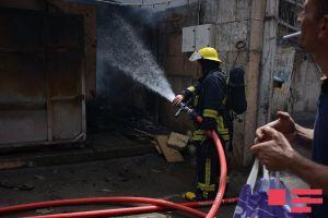 Hacıqabulda ev yandı