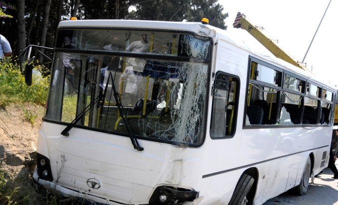 Abşeronda avtobus qəzası:
