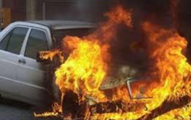 """Bakıda """"Land Rover"""" yandı"""