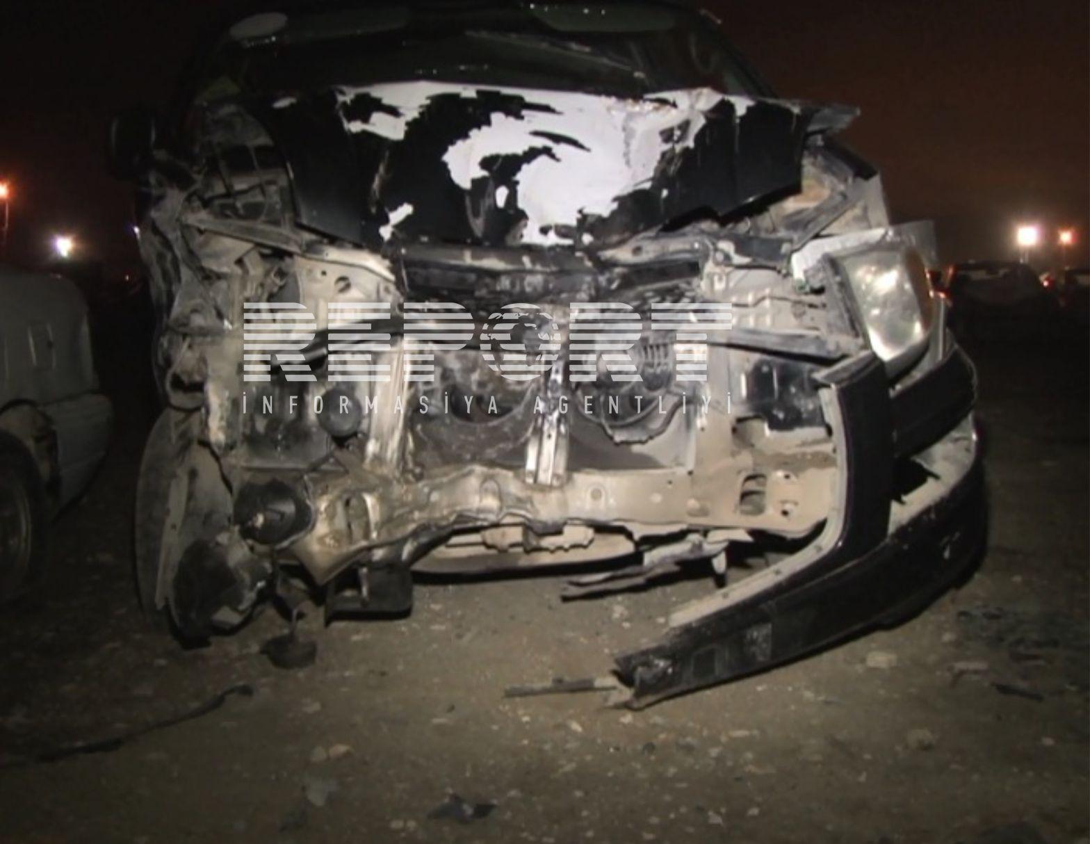 Goranboyda yol qəzası nəticəsində yaralanan 13 nəfərdən biri ölüb –