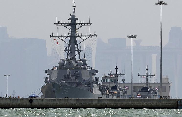 ABŞ-ın eskadra mina gəmisi Yaponiya sahillərində yedəklə toqquşub