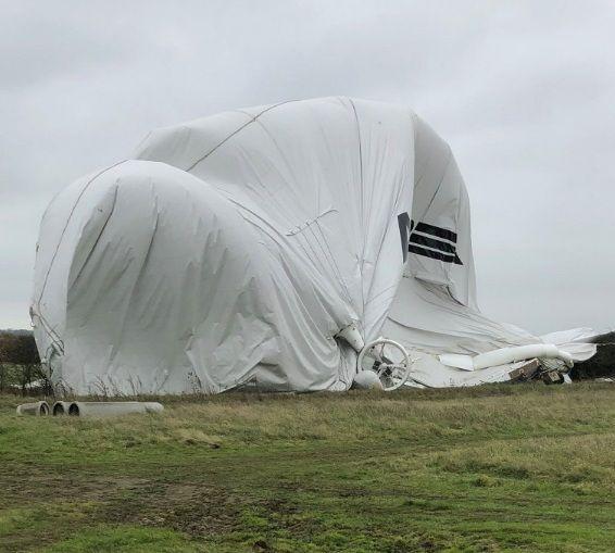 Dünyanın ən böyük hava gəmisi qəzaya uğradı