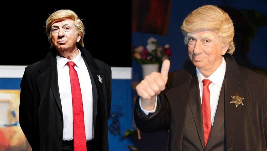Donald Trampın obrazında səhnəyə çıxan aktyoru fitə basdılar