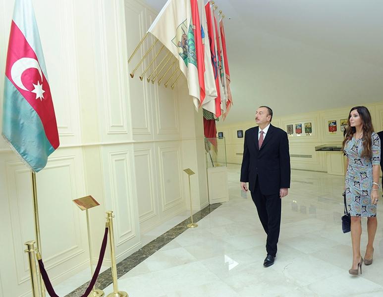 Prezident və xanımı Bayraq Muzeyinin açılışında
