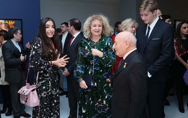 Leyla Əliyeva açılışda