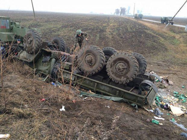 Ermənistanın hərbi maşını qəzaya düşdü
