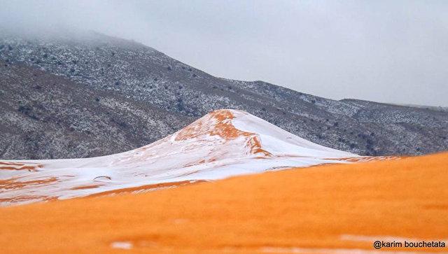 Dünyanın ən böyük səhrasına qar yağdı