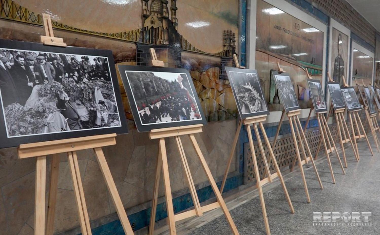 İstanbulda metrosunda 20 yanvar faciəsi ilə bağlı foto sərgi açılıb