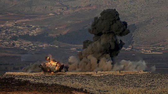 Türkiyə təyyarələri Afrində aeroportu bombalayıb