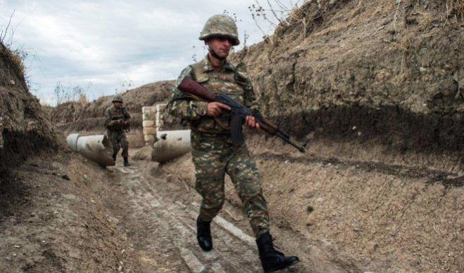 Qarabağda erməni hərbçisi ağır yaralandı