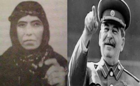 Stalin azərbaycanlı qadının dəstəsində döyüşüb