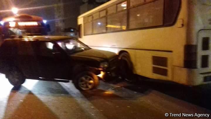 Bakıda avtobusun iştirakı ilə yol qəzası –