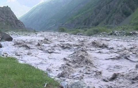 Balakəndə sel suları fəsadlar törətdi