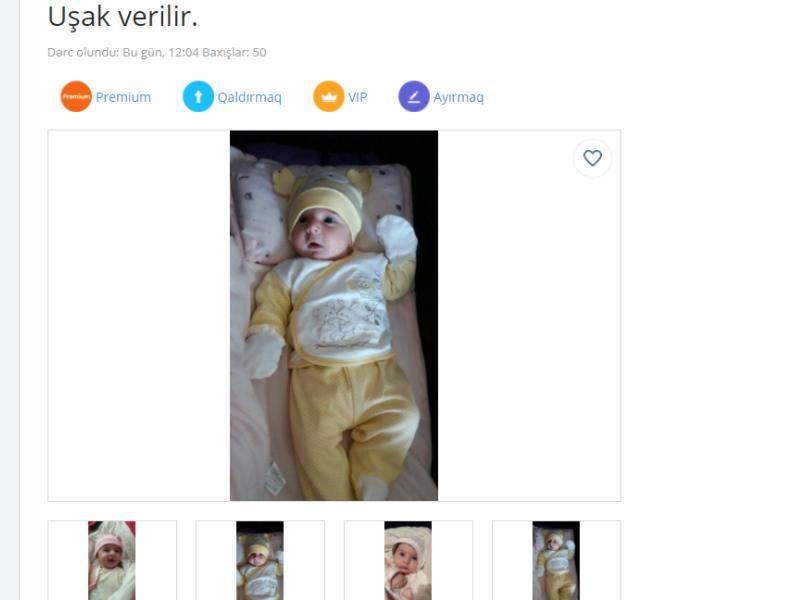 Azərbaycanda alqı-satqı saytında şok elan: