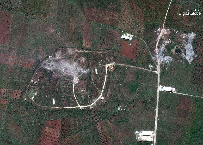 Suriyadakı obyektlər ABŞ bombardmanından sonra –