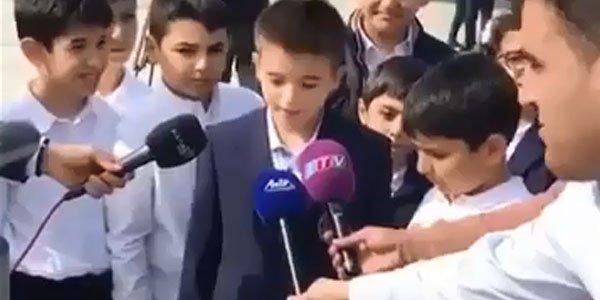 İlham Əliyevin nəvəsi media qarşısında