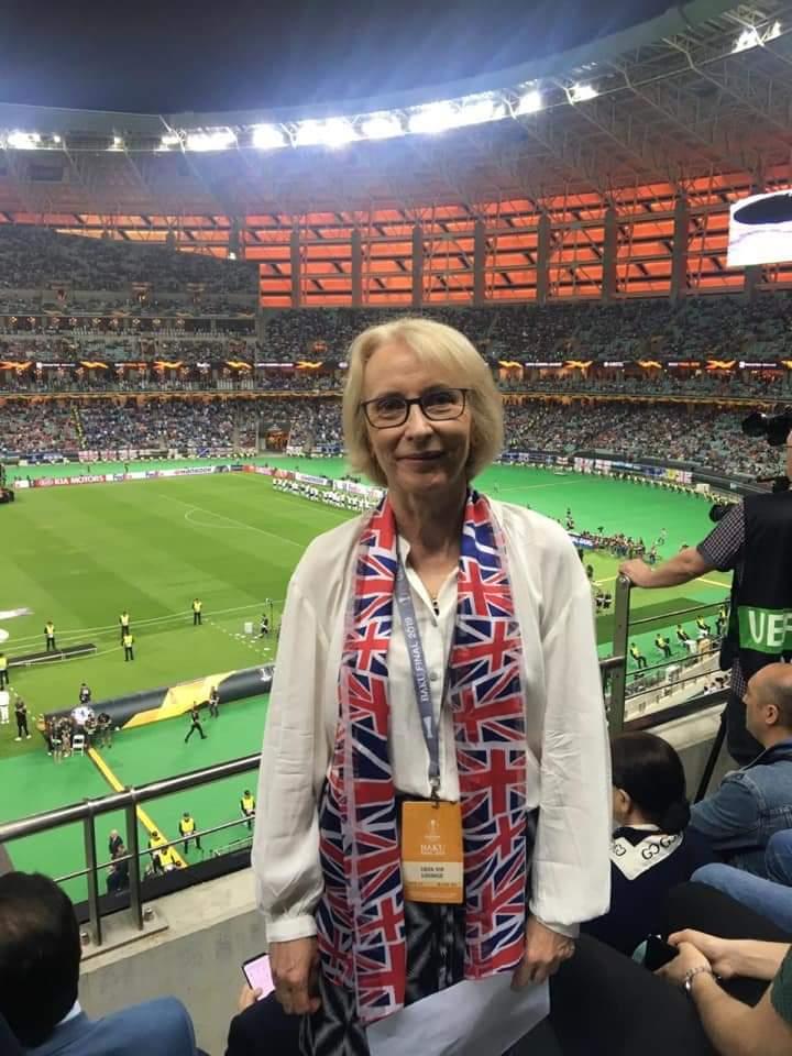Britaniya səfiri də futbolu stadiondan izlədi