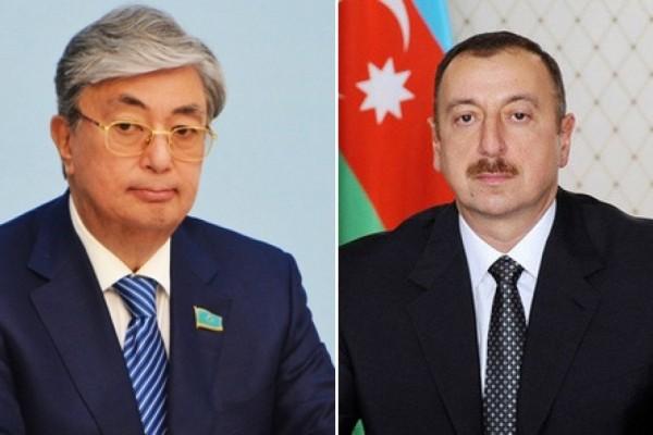 İlham Əliyev qazaxıstanlı həmkarına zəng etdi