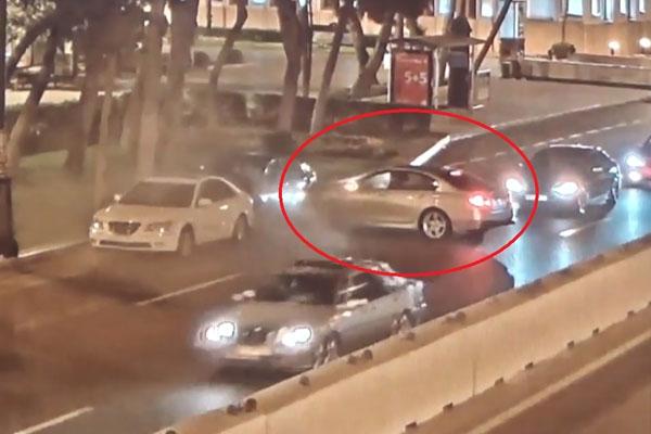 Sərxoş sürücü sükan arxasında yatdı
