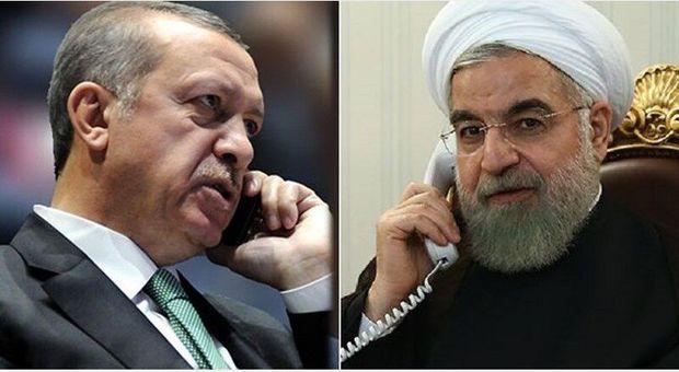 İran Prezidenti Həsən Ruhani ilə Ərdoğan arasında telefon danışığı oldu
