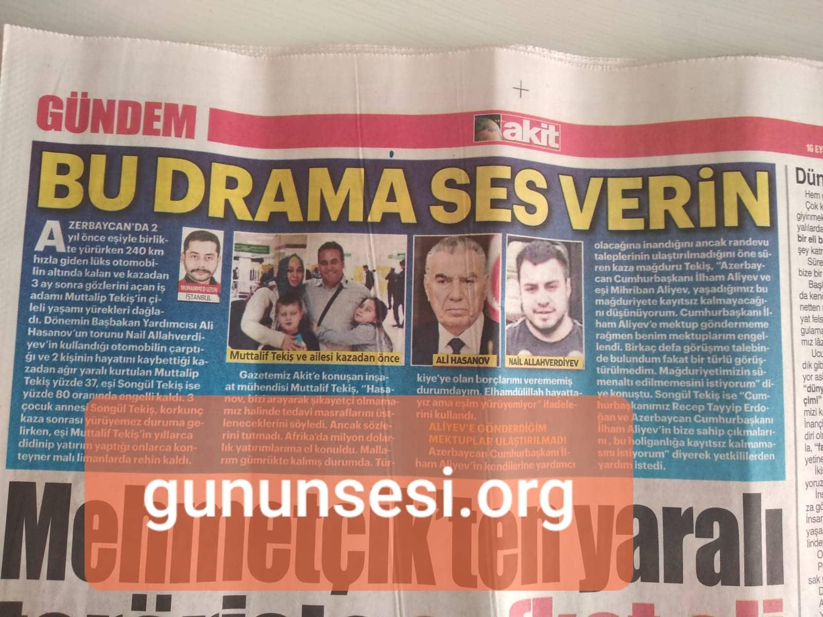 Türkiyənin daha bir nəşri Əli Həsənovdan yazdı