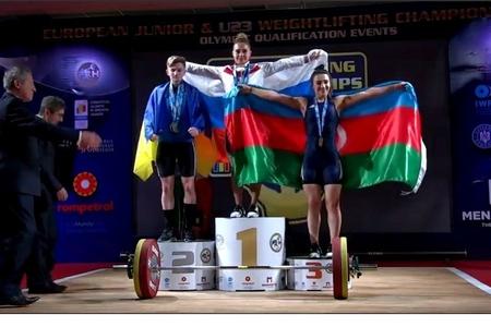 Səbinə Əzimova Avropa birinciliyində bürünc medal qazandı