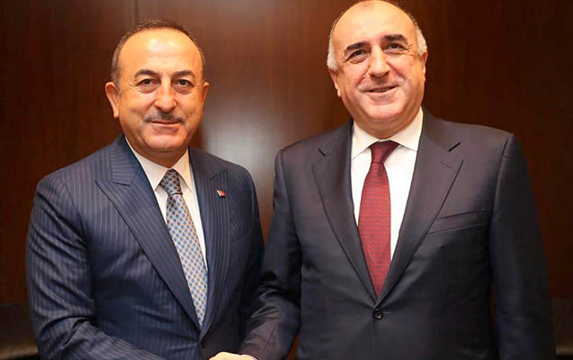 Məmmədyarov Çavuşoğlu ilə görüşdü