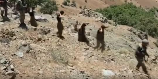 Türk ordusunun əsir aldığı terrorçular