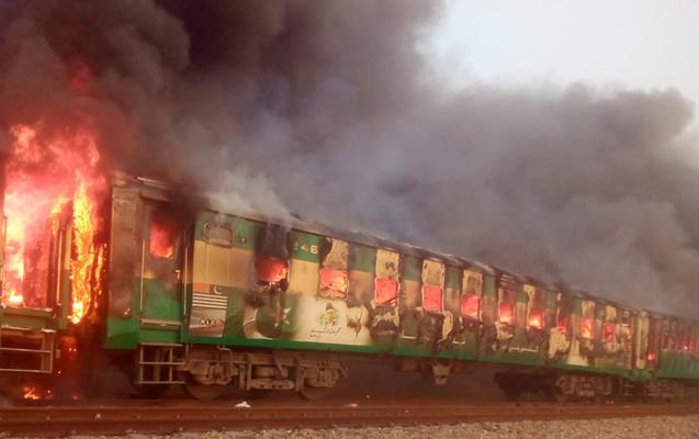 25 nəfər qatarda yanaraq öldü