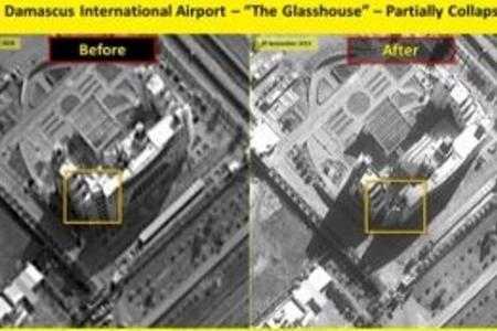 Dəməşq aeroportunda iranlıların qərargahı darmadağın edildi