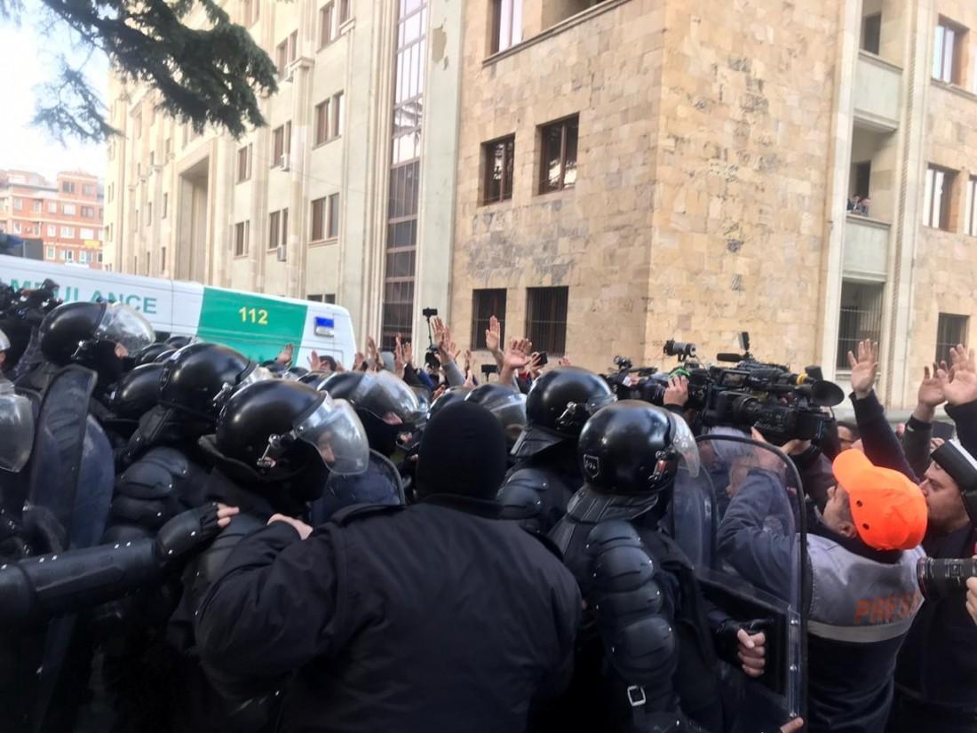 Tbilisidə etirazçılar parlament binasını yenidən bloklamağı planlaşdırırlar