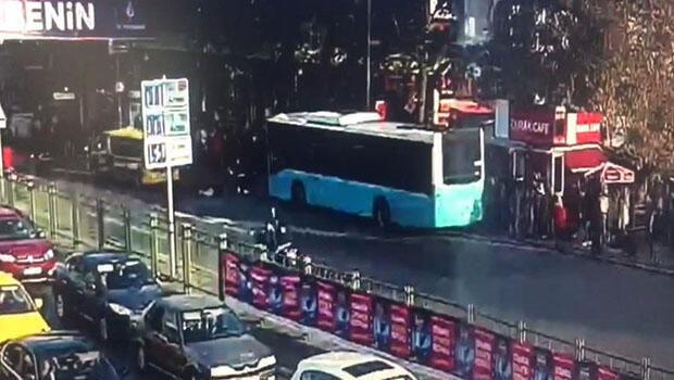 Avtobus insanlarla dolu dayancağa belə çırpıldı – ANBAAN VİDEO
