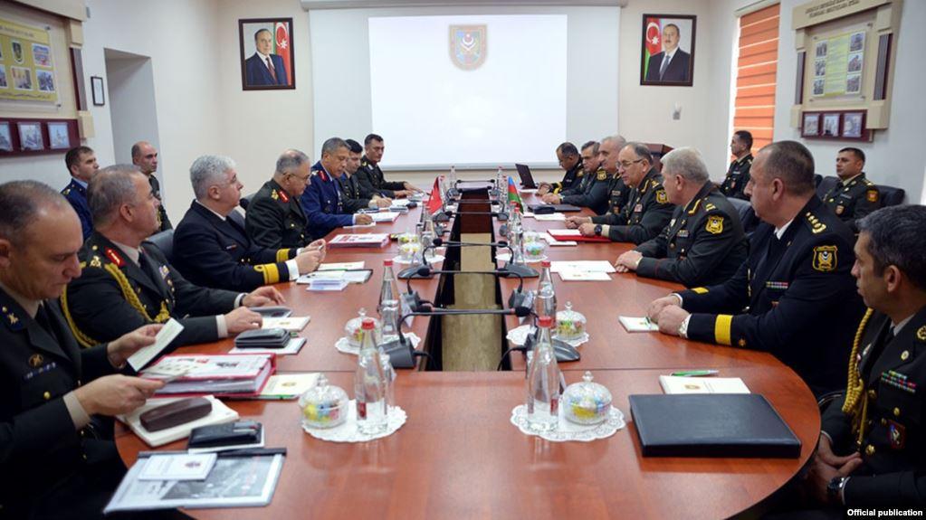 Azərbaycan və Türkiyə generalları bir arada