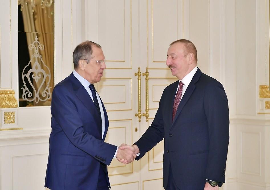 Prezident Rusiyanın Xarici İşlər nazirini qəbul edib